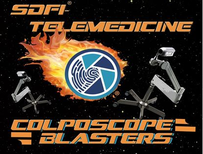 Colposcope Blasters is an Astroid type game where the heroic SDFI Camera System blasts away at those invasive and archaic colposcopes.  Extremely fun and interactive when trying to explain to others how your SDFI System replaces your colposcope.
