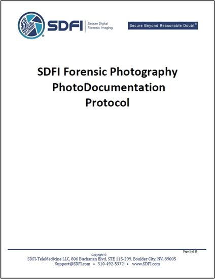 SDFI Forensic Photography Photodocumentation Protocol